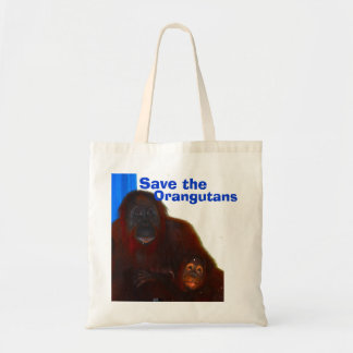 Orangutans Mother and Baby Tote Bag