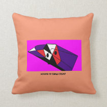 Orangy abstract pillow