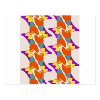 Orangy Abstract Postcard