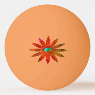 Orangy Eye Flower Ping-Pong Ball