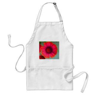 Orangy-pinky daisy adult apron