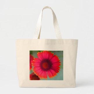 Orangy-pinky daisy bag