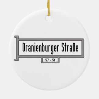 Oranienburger Strasse, placa de calle de Berlín Adorno Redondo De Cerámica