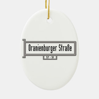 Oranienburger Strasse, placa de calle de Berlín Adorno Ovalado De Cerámica