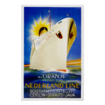 Oranje ~ Nederland Line Poster