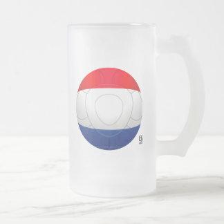 Oranje - Netherlands Football Frosted Glass Beer Mug
