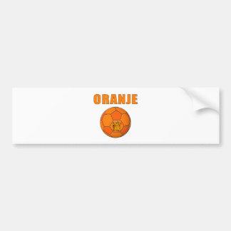 Oranje Voetbal T-Shirts Bumper Sticker