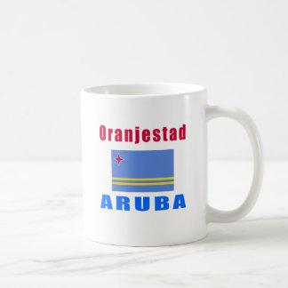 Oranjestad Aruba capital designs Classic White Coffee Mug