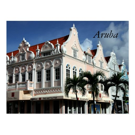 Oranjestad, Aruba, Caribbean Postcard