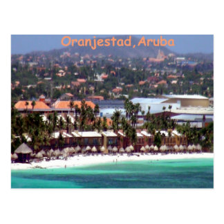 Oranjestad, Aruba in Watercolor Postcard