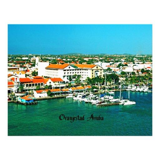 Oranjestad Aruba Membrete A Diseño