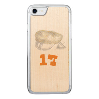 oransje russ tre deksel med russe lue carved iPhone 7 case