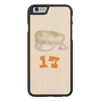 oransje russ tre deksel med russe lue carved maple iPhone 6 slim case