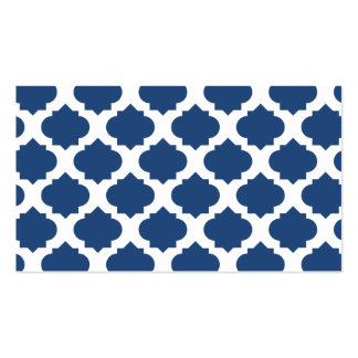 Orante Pattern1 Blue Double-Sided Standard Business Cards (Pack Of 100)