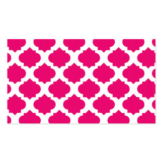 Orante Pattern1 Magenta Double-Sided Standard Business Cards (Pack Of 100)