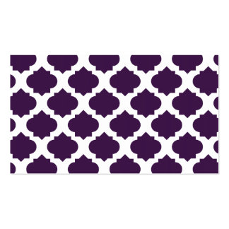 Orante Pattern1 Purple Double-Sided Standard Business Cards (Pack Of 100)
