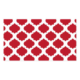 Orante Pattern1 Red Double-Sided Standard Business Cards (Pack Of 100)