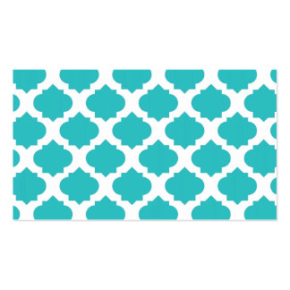 Orante Pattern1 Teal Double-Sided Standard Business Cards (Pack Of 100)
