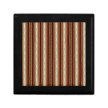 Orate Stripes in Maroon White and Gold Keepsake Boxes