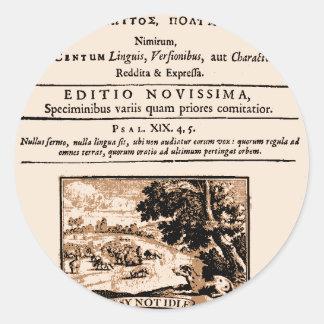Oratio Dominica Classic Round Sticker