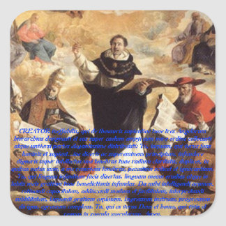 Oratio S. Thomae Aquinatis ante studium Square Stickers