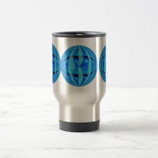 Orb Blue Round travel mug
