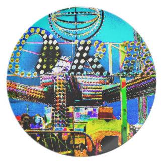 ORB Carnival Fair Ride Art Photo Wall Decor Gift Dinner Plates
