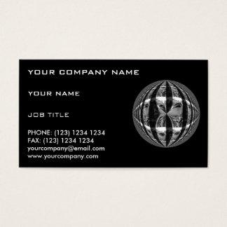 Orb Chrome Black business card black