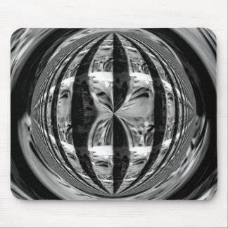 Orb Chrome Black mousepad (horizontal)