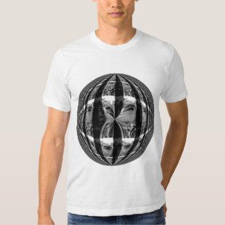 Orb Chrome Black Round t-shirt white