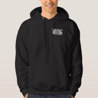 Orb Chrome hooded sweatshirt pocket & back