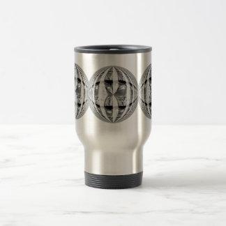 Orb Chrome Round travel mug