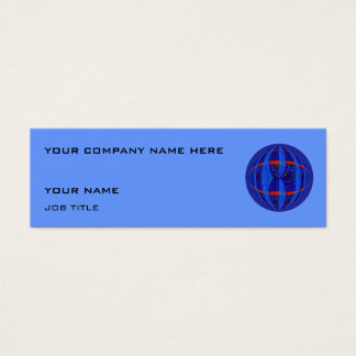 Orb Dark Blue business card blue skinny