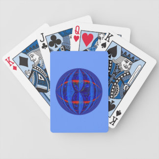 Orb Dark Blue playing cards blue