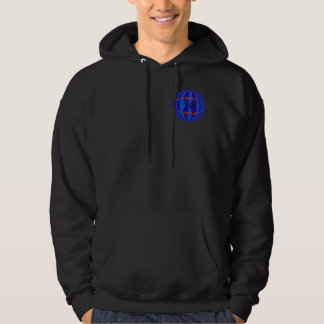 Orb Dark Blue Round sweatshirt pocket & back