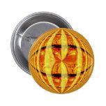 Orb Gold button round
