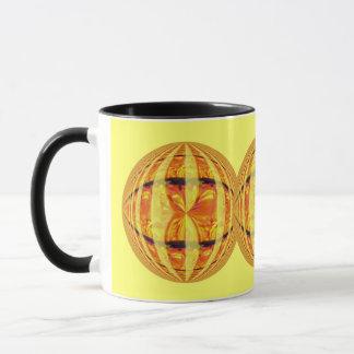 Orb Gold Round mug yellow