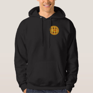 Orb Gold Round sweatshirt pocket & back