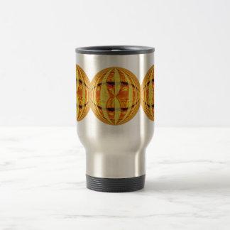 Orb Gold Round travel mug