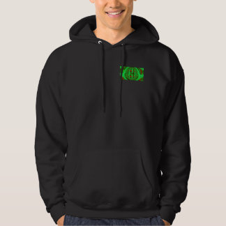 Orb Green hooded sweatshirt pocket & back