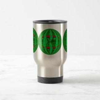 Orb Green Round travel mug