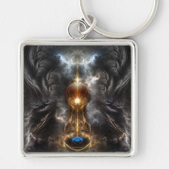 Orb Of Light Fractal Art Keychain