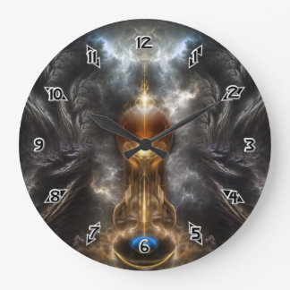 Orb Of Light Fractal Art Large Clock