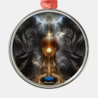 Orb Of Light Fractal Art Premium Ornament