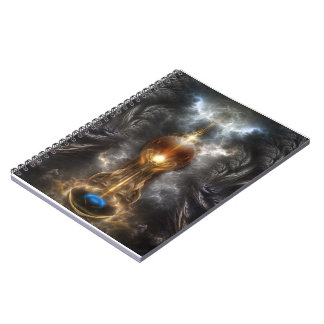 Orb Of Light Fractal Art Spiral Notebook