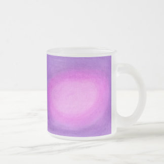 Orb - Pink Frosted Glass Coffee Mug