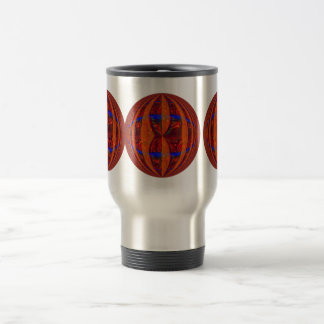 Orb Red Round travel mug