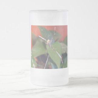 Orb Spider Frosted Glass Beer Mug