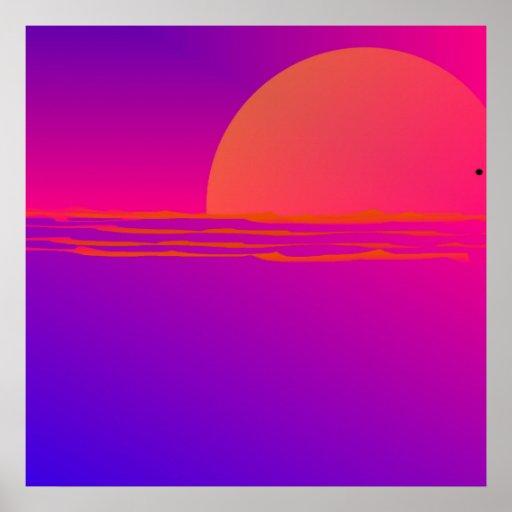 Orb Sunset Poster