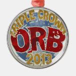 Orb - Triple Crown 2013 Christmas Tree Ornament